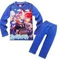 2016 Nova Zootopia das Crianças Pijamas Meninos Impresso Conjuntos de Pijama set Pijamas menino Meninas Sleepwears Roupa Dos Miúdos