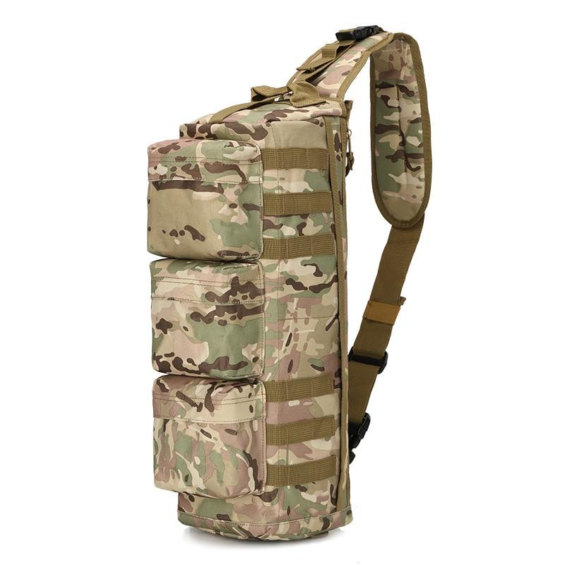Sac d'assaut MOLLE tactique pour hommes sac à bandoulière Camouflage sac à bandoulière militaire randonnée Camping sac à dos de pêche