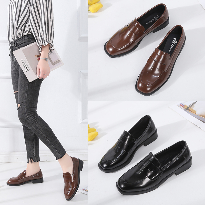 2019 New Fashion Womens Soft Leather Slip on Casual Women Flats Retro Ethnic classic Shoes Women Fringe Oxfords Shoes for Ladies