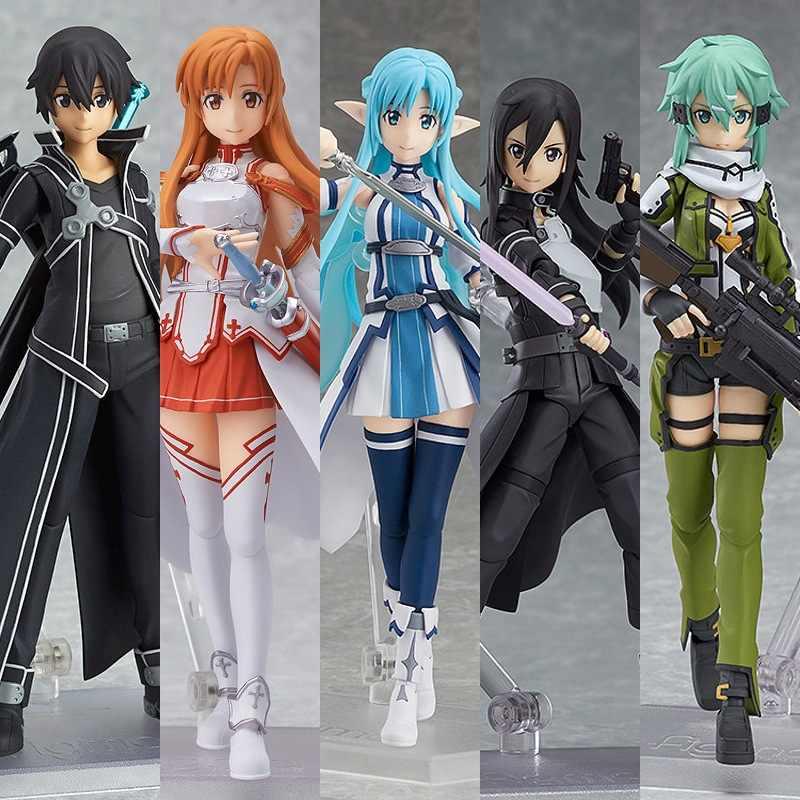 Anime Jouets Sword Art Online Kirigaya Suguha Leafa Figma Figurine Statues 15cm