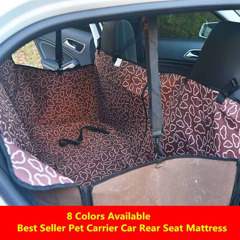Waterproof Car Seat Cover for Pets Oxford Cloth Pet Dog Carrier Car Rear Seat Cover Hammock Cushion 122x40x38cm Pet Accessories
