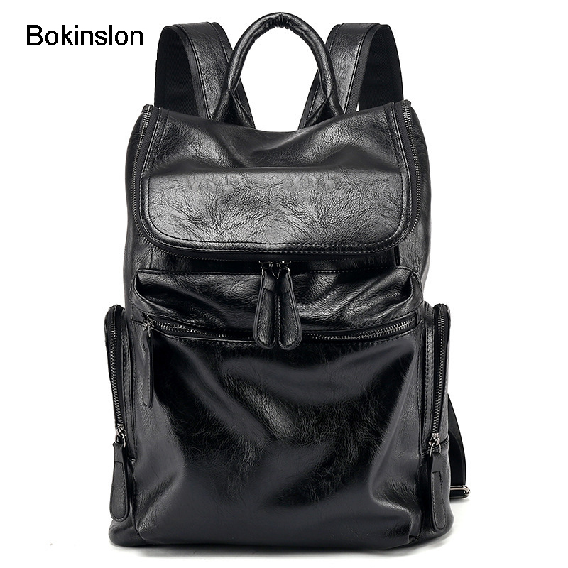 735024fe9e Bokinslon Woman Brand Backpack PU Leather College Wind Travel Backpack Girl  Fashion Practical Backpacks Women s Bags