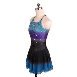 Image 5 - Nasinaya robe de patinage artistique concours personnalisé jupe de patinage sur glace pour fille femmes enfants Patinaje gymnastique Performance 208