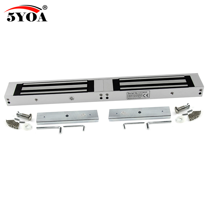 180 280 350kg 12V Double Electronic Lock Electric Magnetic Door Lock 350 600 800lbs Holding Force