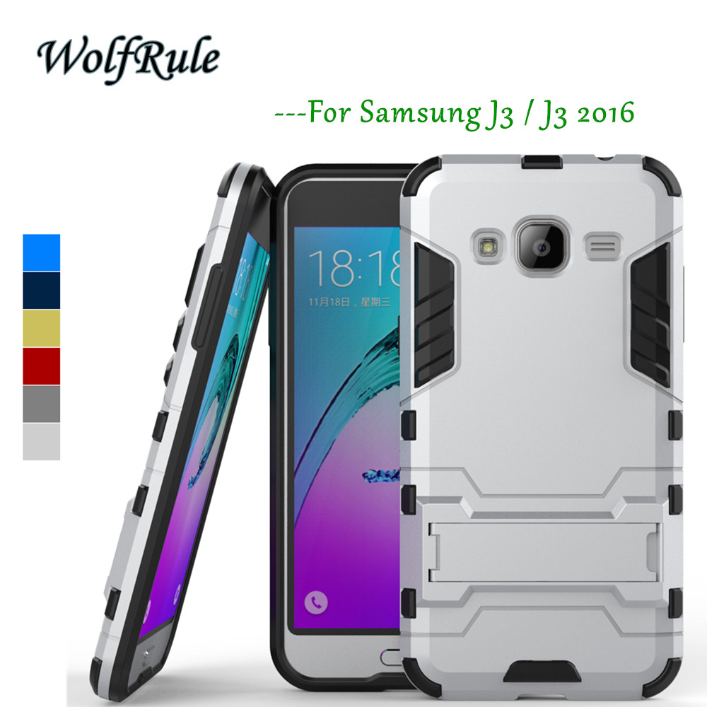 sFür Telefonabdeckung Samsung Galaxy J3 2016 Hülle Silicon + Kunststoff Hülle für Samsung Galaxy J3 Hülle J310 Für Funda Samsung J3 2016 <{