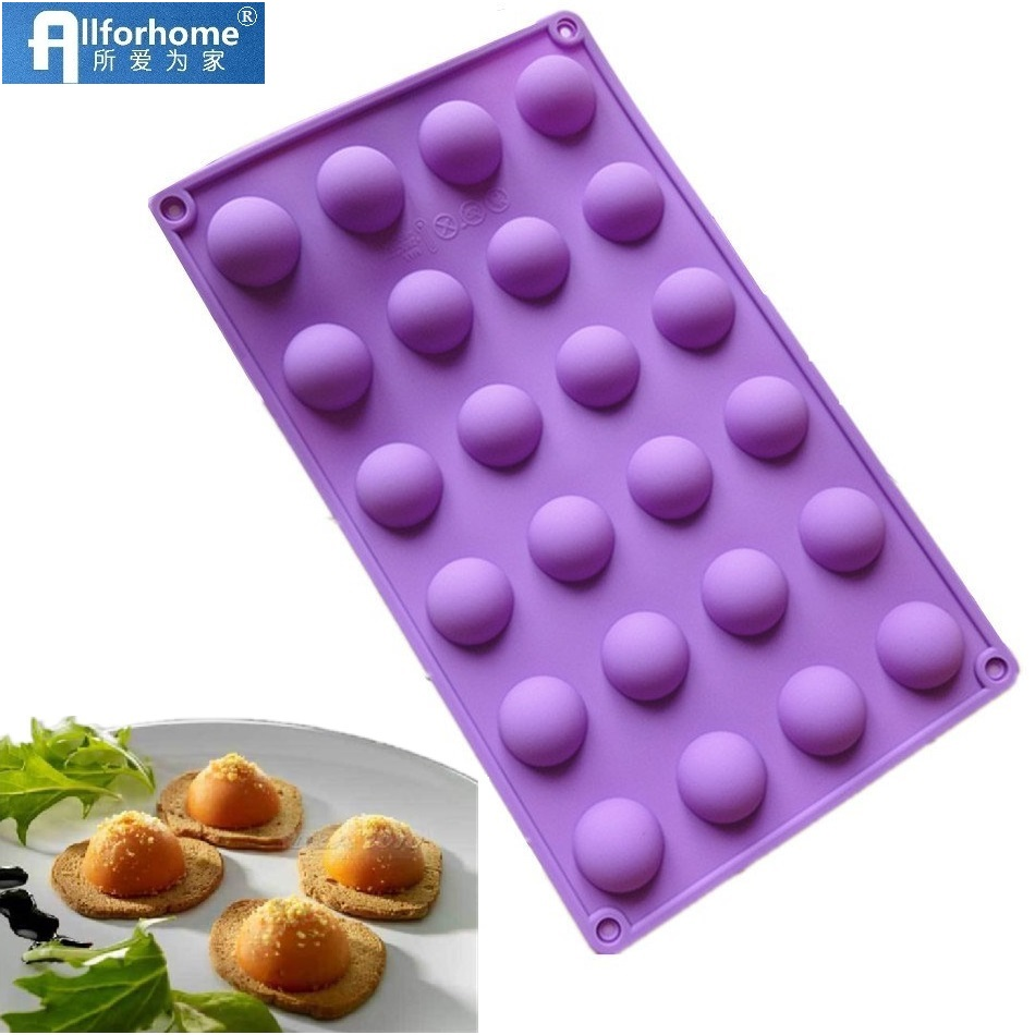 6 Half Sphere Ball Silicone Chocolate Mould Ice Cube Tray Dessert Bake DIY Mold