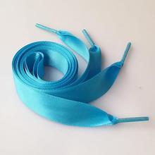 80cm Flat Satin Ribbon Multicolor Shoelaces Shoe Laces Sneaker Sport Shoes 2CM Wide 16 colors