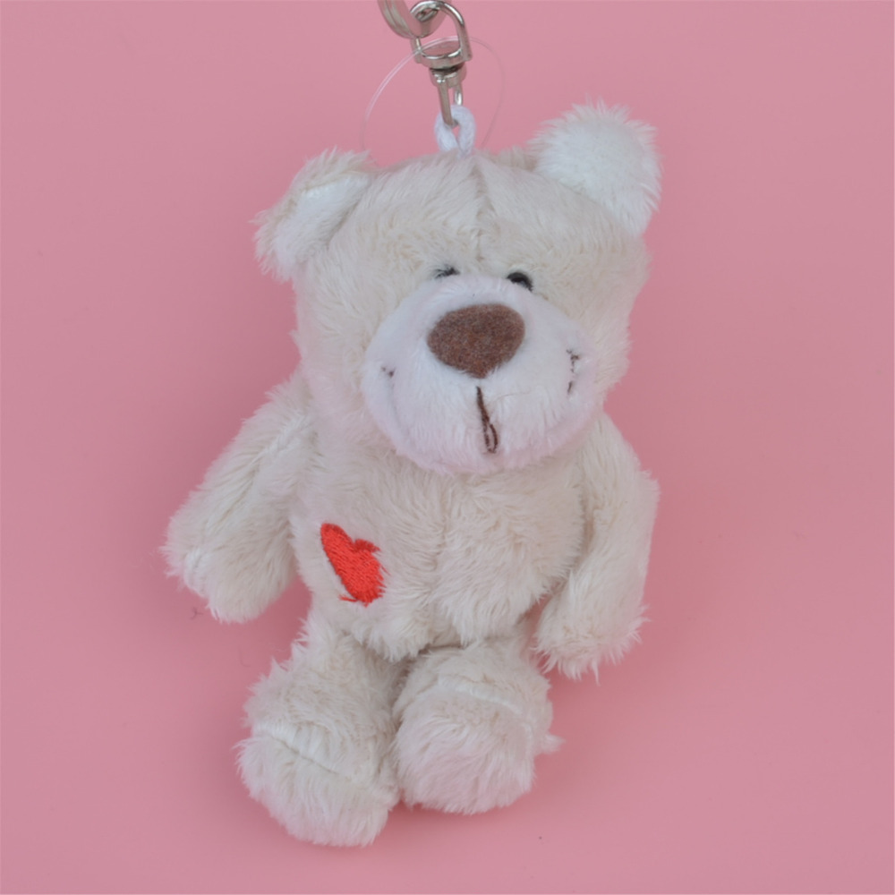 3 Pcs Light Color Bear Small Plush Pendant Toy, Kids Doll  Keychain / Keyholder Gift Free Shipping