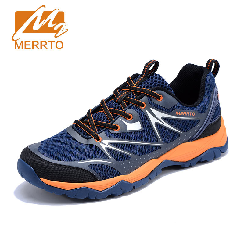 MERRTO Men Outdoor Summer Hiking Shoes Mesh Breathable Ultra light Sport Trekking Boots Walking Shoes zapatos senderismo hombre