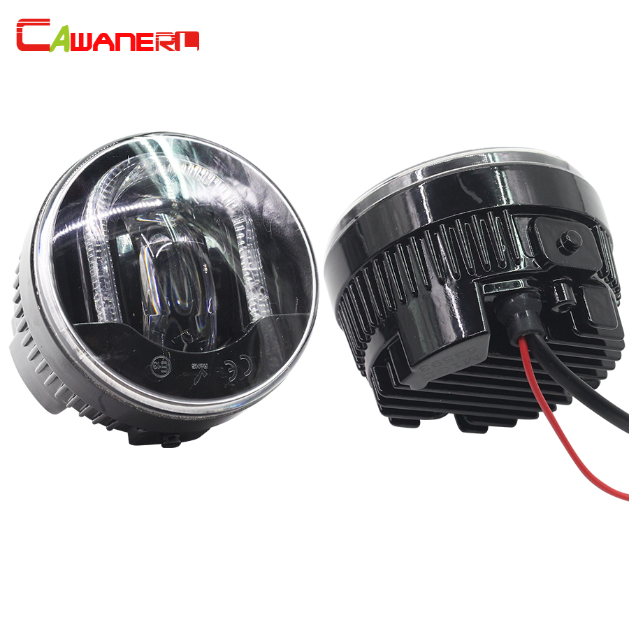 Cawanerl 2 Pieces Car LED Light Source Fog Light Daytime Running Lamp DRL 12V High Power For Dacia Logan Sandero Solenza high quality h3 led 20w led projector high power white car auto drl daytime running lights headlight fog lamp bulb dc12v
