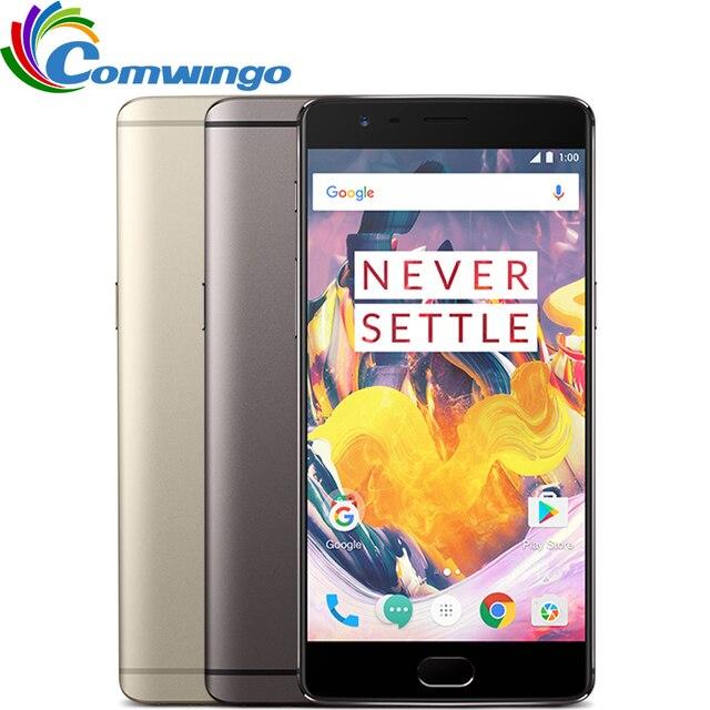 """Nueva original oneplus 3 t 6 gb 64 gb snapdragon 821 quad core 5.5 """"Android 7.0 NFC 16MP de Huellas Digitales de una más 3 T 4G LTE Teléfono Móvil"""