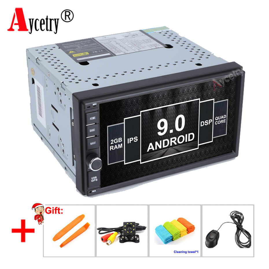 Aycetry DSP IPS 2 Din Android 9 0 Universal Car Radio Stereo Multimedia player PC dvd