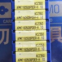APMT160508PDER H ACZ350 CNC Ferramenta de Tornear Lâmina Lâmina de Carboneto de 10 Pcs New Original Ortodoxa Ferr. torneam.     -