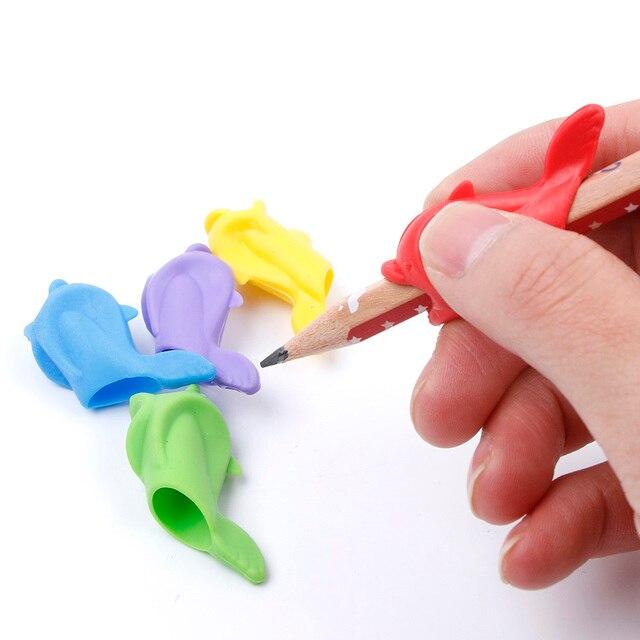 5 Stücke Silikon Baby Kinder Lernen Schreiben Haltung Werkzeughalter ...