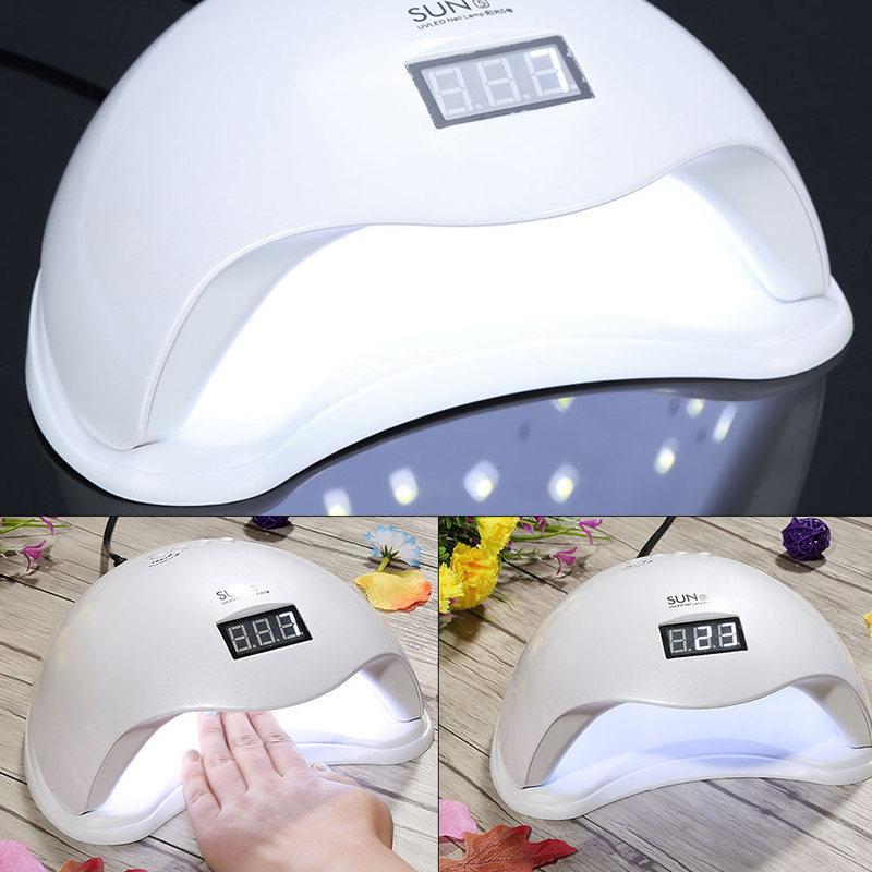 EU/US Plug SUN5 Professional LED Nail Lamp UV Light Gel Polish Nail Dryer Lamp Manicure Machine LED Lamp Gel Nail Dryer XUNICANG