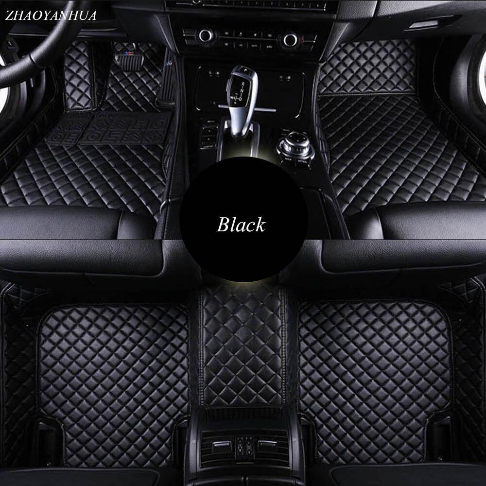 ZHAOYANHUA Car floor mats for Mercedes Benz w211 gla w176 w204 glk w212 w205 c180 w245 w246 car-styling carpet high class rugs c 2016 car styling diy rear guard bumper protector trim cover reflective sticker for mercedes benz glk gle gla glc c class