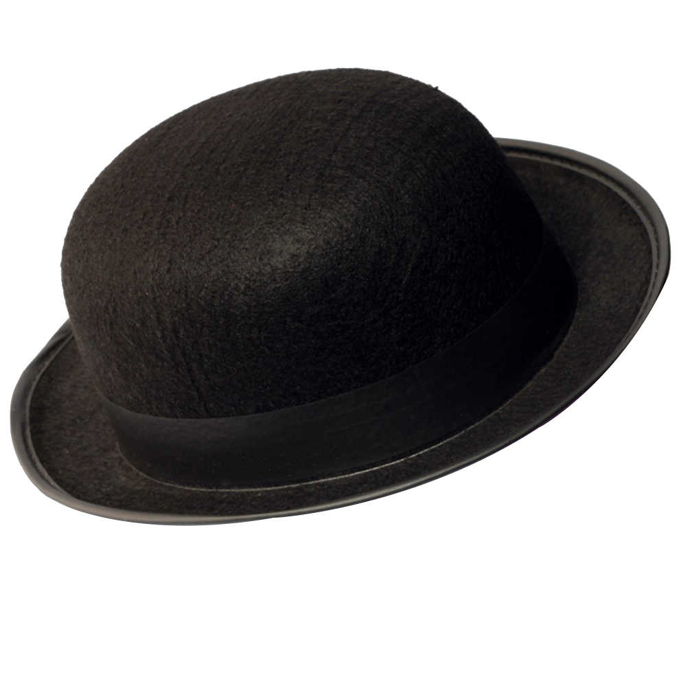 50fa73f121e11 Black Bowler Hat Magicians Hat Dress Up Costume Accessory for Men Adult  Fancy Dress Party