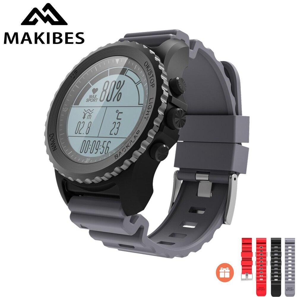 Original Makibes G07 IP68 Water resistent GPS Smart Sport Watch Bluetooth Health Tracker Smart Watch Dynamic Heart Rate monitor makibes ex18 smart watch orange