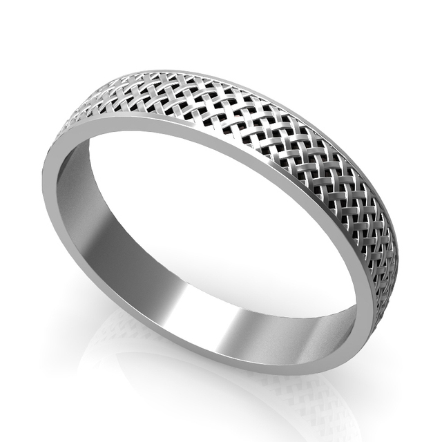 4mm Argent Ring