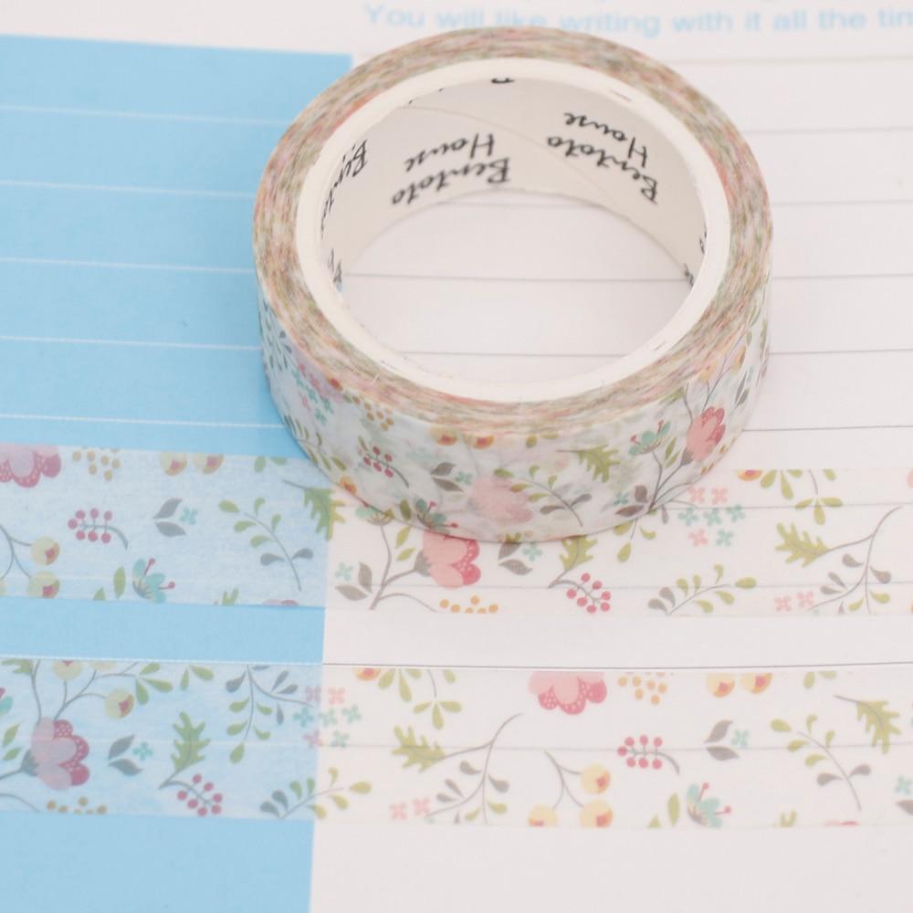 Colorful Season of Flowers Decorative Washi Tape DIY Scrapbooking Masking Tape School Office Supply Escolar Papelaria