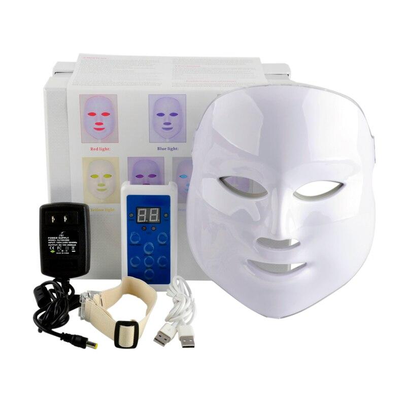 Nouveau coréen photodynamique LED masque Facial usage domestique Instrument de beauté Anti acné peau rajeunissement LED photodynamique beauté masque