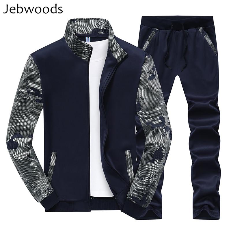 Men's Sportswear Tracksuit Men Track Suit Sweatsuit 2 Two Pieces Set Jacket+Track Pants Camouflage Camo Winter Sweat Suit Men