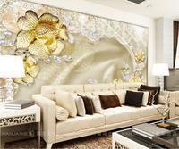 Oro de lujo de gama Alta 3D Murales de Pared Para la sala de estar Dormitorio Del Hotel Bar Café Sala de KTV Decoración de Vinilo Wallpapers