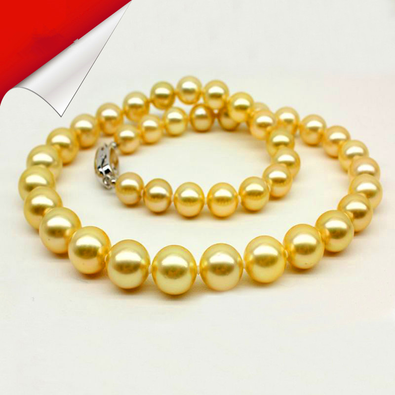 Natural pearl necklace Sallei south sea gold shell necklace round Women gift Necklaces Statement friend necklaces Jewelry gifts jiuduo jewelry genuine luxury support natural pearl necklace for women beautiful shell necklaces simulated crystal jewelry