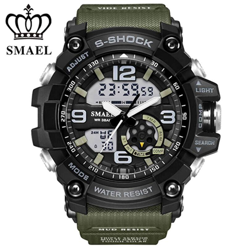 Digital Watch Men Military Army Sport Watch Water Resistant Date Calendar LED Electronics Watches relogio masculino