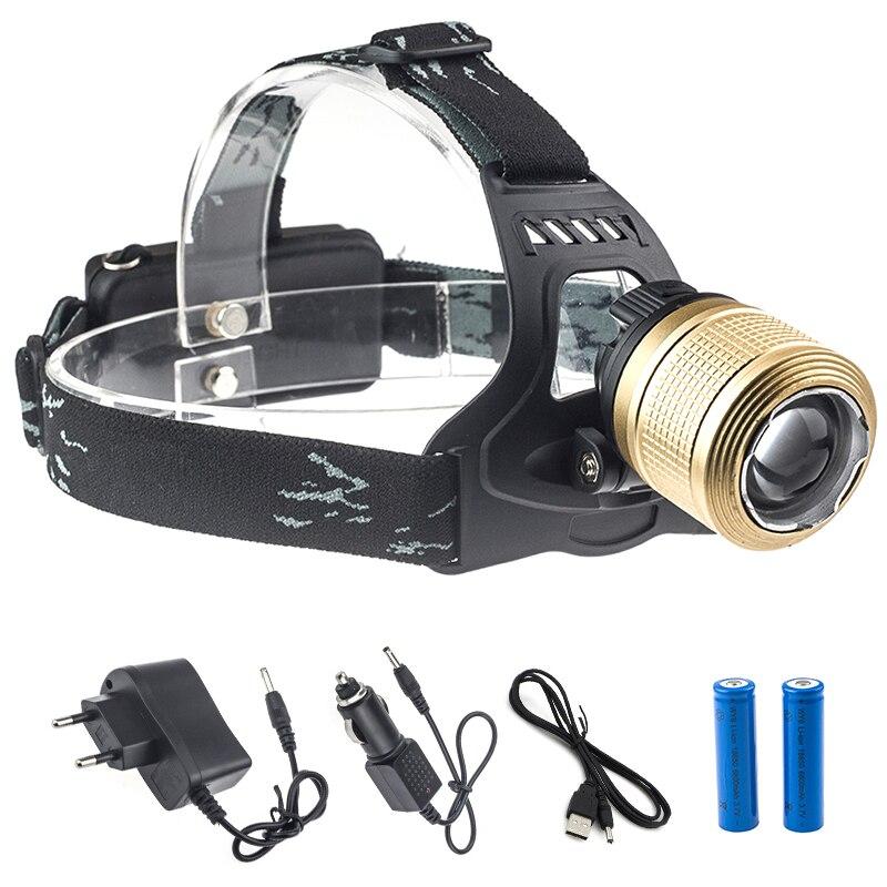 18650 CREE T6 headlamp 10000 Lumen Frontal Torch Powerful Led Light Head Fishing Hunting Flashlight with EU/US/UK/AU charger fenix hp25r 1000 lumen headlamp rechargeable led flashlight