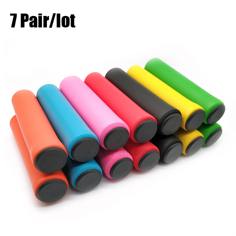 1pair Outdoor Soft Mountain Bike Cycling Bicycle Rubber Handlebar Grips