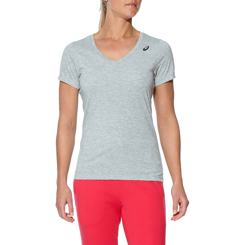 T-Shirt ASICS 141132-0714 sports and entertainment for women sport clothes stylish short sleeve round neck high low hem cat and letter print t shirt for women
