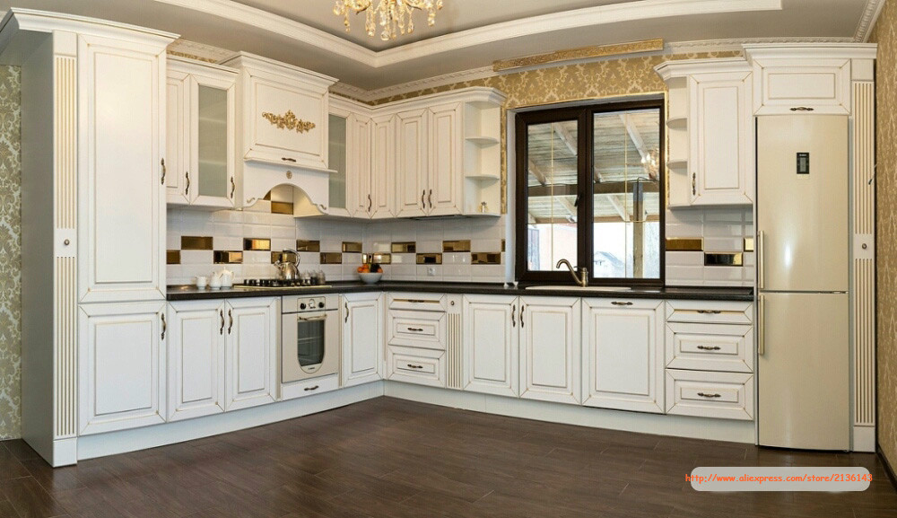 Online get cheap oak kitchen cabinets for Cheapest wood for kitchen cabinets