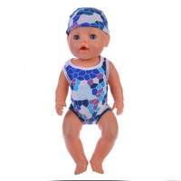 ZXZ  Blue swimsuit suit Baby Born Doll Fits 18 inch American Girl Doll and 43cm Zapf Baby Born Doll