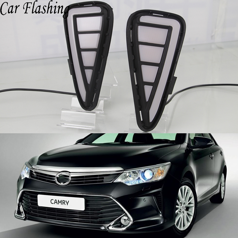2016 Toyota Camry Pictures: Car Flashing 1 Pair DRL For Toyota Camry 2015 2016 2017