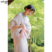 Women Dress Japanese Kimono Suit Bathrobe Geta Clogs Handbag 9 Pieces Set Yukata Kimono Cosplay Costumes Novelty Evening Dress