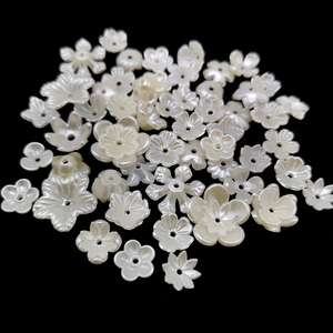 100pcs Pearl White Beads Jewelry Making Findings Caps Needlework Diy Accessories Wholesale(China)