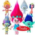26 cm Hot Novo Filme Trolls Plush Toy Papoula Ramo Dream Works Stuffed Bonecas Dos Desenhos Animados A Boa Sorte Trolls Natal presentes