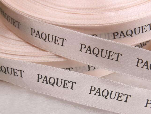 Lots Of Width Customized Your Logo DIY Satin Ribbon Polyester Belt Flat Font Wedding & Personalized Gift Packing Sale By Roll