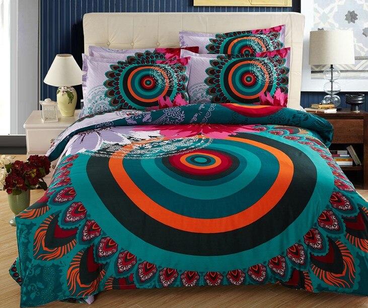 Bohemen beddengoed sets BOHO stijl dekbedovertrek volledige queen - Thuis textiel