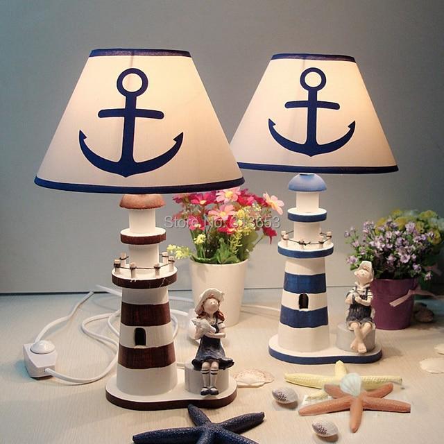 Mittelmeer Hlzernen Leuchtturm Lampe Tischlampe Fr Wohnzimmer Schlafzimmer Dekoration