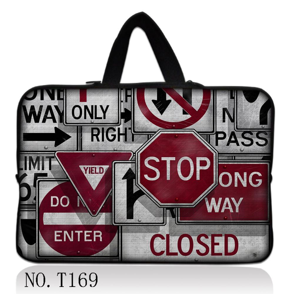 Traffic Signs Laptop Sleeve Bag For Laptop 11,13,14,15,15.6 Sleeve Case For Macbook Air Pro 13.3,15.4,Free Drop Shipping