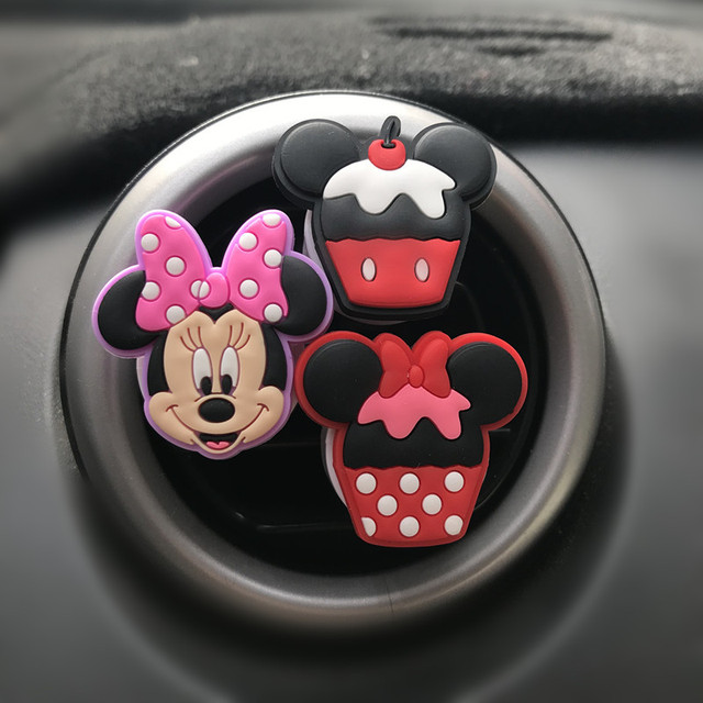 Car Air Freshener Cartoon Minnie Auto Accessories Mickey Auto Accessories Clip Air Conditioning Breathable Perfume