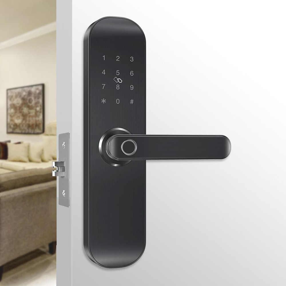 TUYA Security Smart Digital Lock Biometric Fingerprint WiFi App Door Lock  with Google Home Amazon Alexa Google Assistant