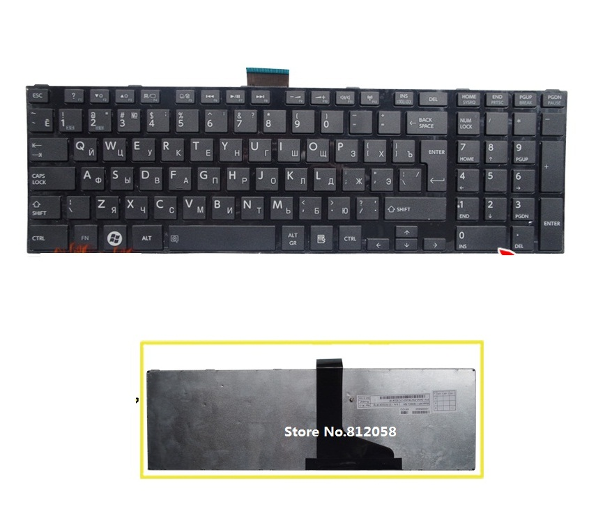 SSEA New Russian Keyboard For Toshiba satellite L850 L850D C850 C855 C870 C875 L875 L855 L950 L955 laptop RU Keyboard image