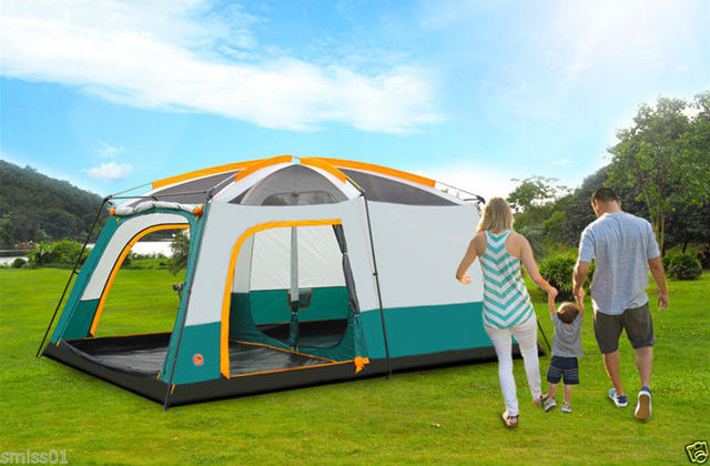 Family Camping Automatic Outdoor Double Layer Waterproof 10 Person Tent