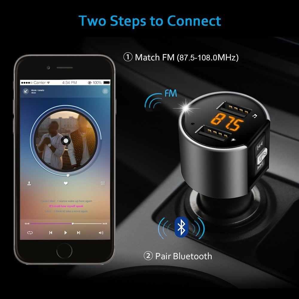 Fm-передатчик Bluetooth автомобильный набор, Handsfree, авто передатчик Беспроводной A2DP музыка Автомобильный MP3-плеер 5 V 3.4A Поддержка USB Flash Driver