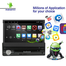 Carlinke 1 Din Android 6 0 System Bluetooth Touch Screen Car DVD Player with GPS Navigation