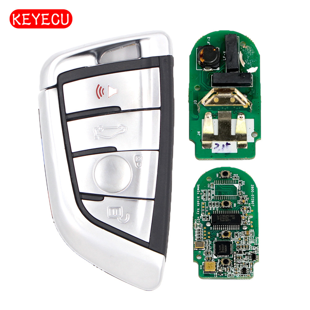 Keyecu CAS4+ Remote Car Key Fob 4 Button 315MHz for BMW 1 2 3 4 5 6 7 Series X1 X3 F Chassis FEM 2011-2017 Silver цены