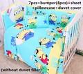 Discount! 6/7pcs baby bedding set 100% cotton crib bedding curtain crib set bed sheet ,120*60/120*70cm